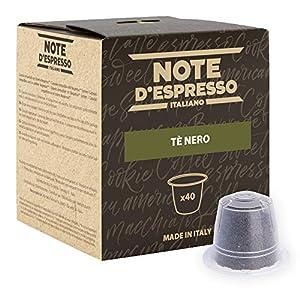 Note D'Espresso Tè Nero Capsule esclusivamente Compatibili con Sistema Nespresso* - 80 g (40 x 2 g)