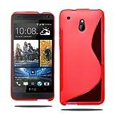 HTC One mini M4Grip S Line Wave Coque en gel + film écran + stylet