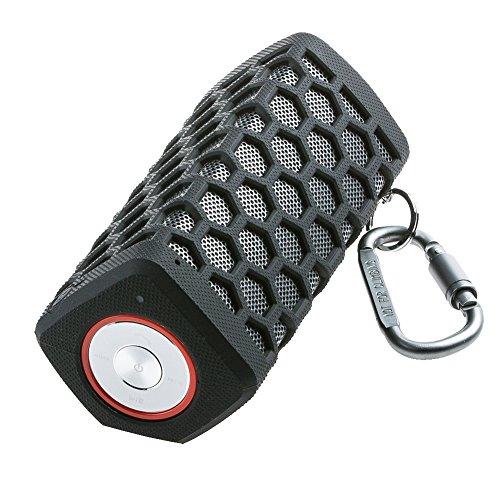 Hapyia Mobiler Tragbarer Bluetooth 4.0 Lautsprecher Speaker mit 7000mAh Aufladbarer Batterie,Extrem kraftvollem Sound und Bass, eingebautem Mikrofon für iPhone, iPad, Samsung, Sony, HTC Android Smartphone (Schwarz)