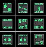 Qhrdp Adesivo Interruttore Luminoso Lato Luce Lato Oscuro Adesivo Effetto Luminoso Cartone Animato Al Buio Per Camerette Per Bambini Arredamento Per La Casa 9 Pezzi