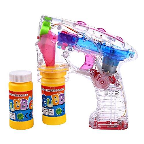 Preisvergleich Produktbild S / O® LED Seifenblasenpistole incl. 2x50ml Seifenblasen Flüssigkeit OHNE BATTERIEN Pistole Bubble Gun