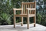 SAM® Teak-Holz Gartensessel, Gartenstuhl Caracas, Sessel mit Armlehnen, aus Massivholz, ideal für Balkon, Terrasse oder Garten, angenehmer Sitzkomfort