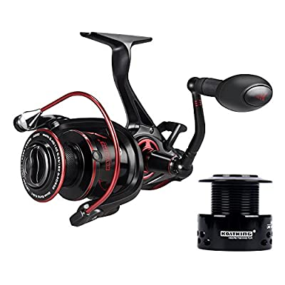 KastKing Sharky Baitfeeder III Spinning Fishing Reel 10+1 Shielded Stainless Steel BB – Carbon Fiber Drag for Live Liner Bait Fishing Action by Eposeidon
