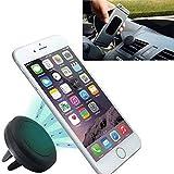 Leisial - Supporto di navigazione e per telefono cellulare da auto, magnetico, per smartphone iPhone 8/8 Plus/iPhone X iPhone 7/7 Plus/6/6 Plus/5/5S/5C/Samsung Galaxy/Android