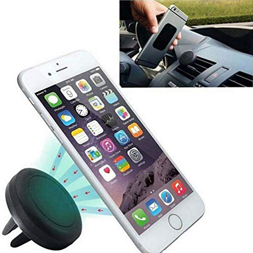 Leisial Supporto di navigazione e per telefono cellulare da auto magnetico per smartphone iPhone 8/8 Plus/iPhone X iPhone 7/7 Plus/6/6