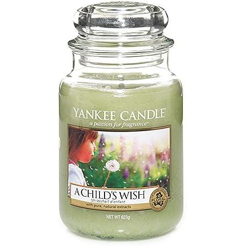 Yankee Candle, 1254079E, Candela profumata in barattolo di vetro A Child's Wish, Grande