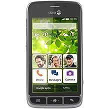 "Doro Liberto 820 Mini - Smartphone libre Android (pantalla 4.5"", Octa-Core, 4 GB, 512 MB RAM, cámara 5 Mp), color negro y plateado"