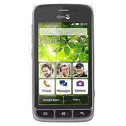 "Doro Liberto 820 Mini - 3G Smartphone (4"" Touchscreen, 5 MP Kamera, GPS, Bluetooth 4.0, WiFi, Android 4.4) stahl/schwarz"