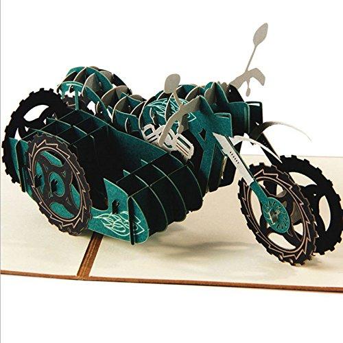 Baby-geschenk-karte Neue (kofun-Grußkarten handgefertigt 3D Pop up Motorrad Grußkarte Geburtstag Frohe Weihnachten Ostern Thank You Weihnachten Geschenk Karte 15* 15cm)