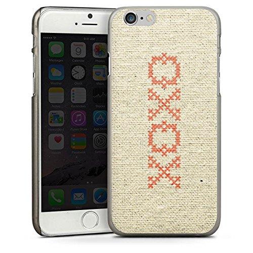 Apple iPhone 4 Housse Étui Silicone Coque Protection Bisou je t'aime Phrase Hugs Kisses Motif CasDur anthracite clair