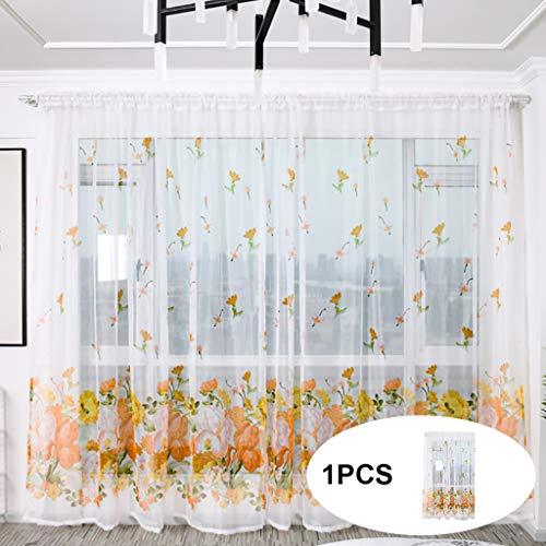 Vorhang Kinderzimmer - Coconano Transparente Gardine Hirtenart - Pfingstrose blüht Raumvorhänge...