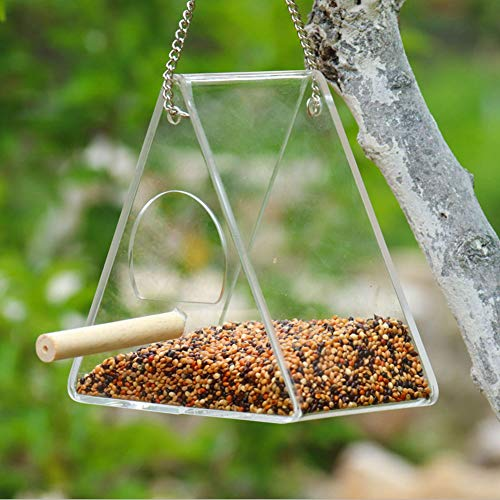 Bird Nest - Transparent Acrylic Adsorption Type House Shape Bird Feeder Innovative Suction Cup - Tube Tray Feeders Cameras Syringe Dish Device Plate Accessories Blocks Proof Needle Ball Patio Foo Systeme Patio Station