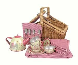 Egmont Toys Tin Tea Set India with Basket