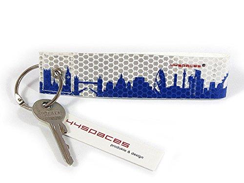 Preisvergleich Produktbild LONDON CITY KF REFLEX von 44spaces - Blauer Schlüsselanhänger aus reflektierender Folie
