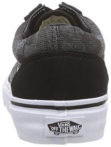 Vans Old Skool, Baskets Basses Mixte Adulte Noir (Chambray Leaves/Black)