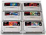 UV Absorbtive Acrylbox Wandregal Für SNES Super Nintendo Und N64 Nintendo 64 Spiele I Hüllen Case Gamecase Schutzhüllen Schutz I Für Spiele Wie Super Mario World Kart Donkey Kong Country Street Fighter Yoshis Island Zelda Link To The Past UVM