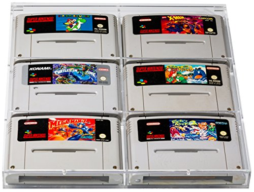 Für Nintendo Das Super Pokemon (UV Absorbtive Acrylbox Wandregal Für SNES Super Nintendo Und N64 Nintendo 64 Spiele I Hüllen Case Gamecase Schutzhüllen Schutz I Für Spiele Wie Super Mario World Kart Donkey Kong Country Street Fighter Yoshis Island Zelda Link To The Past UVM)