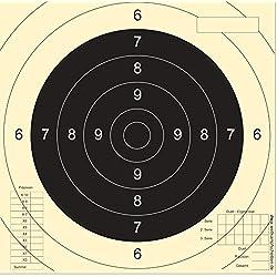 100 Cibles pistolet 25/50m avec enoches