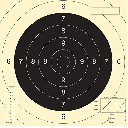 250 Schießscheiben Sportpistole Präzision