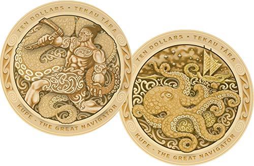 Power Coin Kupe Great Navigator Krake Tekau Tara Set 2 Gold Münzen 10$ New Zealand 2019 - Zehn-dollar-gold-zertifikat
