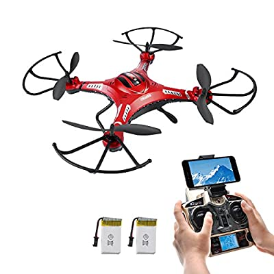 Potensic Wifi FPV 2.4GHz 4CH 6-Axis Gyro RC Quadcopter Drone with 2 Megapixels HD Camera, 3D Flips Function