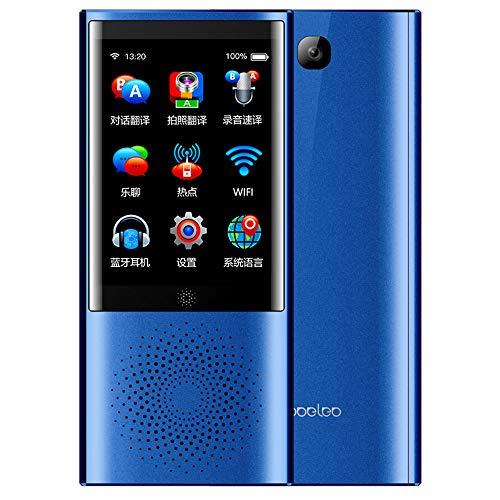 EASON Sprachübersetzung Intelligente Offline-Übersetzung 4gWIFI Bluetooth-Touchscreen-Fotoübersetzung,Blue Qvga-touch-screen