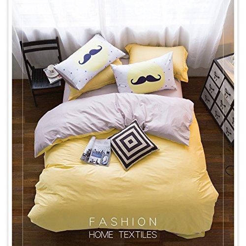 GAW Home Fashion 100% Baumwolle 4-pièces Bettbezug Bettwäsche-Set, König/Königin, (1Bettbezug, 1Bogen, 2Kopfkissenbezüge) (Queen-size-bett-set Purpur)