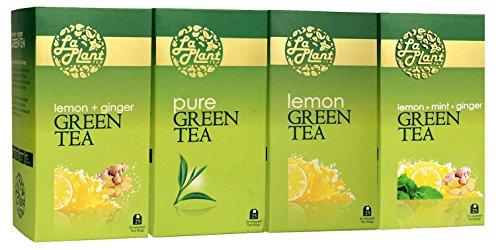 Laplant Green Tea Collection Iv - 100 Tea Bags (pack Of 4: Pure, Lemon, Mint & Ginger)