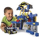 Fisher-Price TRIO DC Super Friends Batcave Building Toy Set with Batman Minifigure