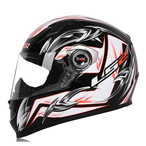 Generic Full Face Motorradhelm Motocross Racing Mann Frau Full Face Carbon Motorradhelm Professioneller Rennhelm