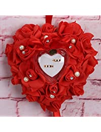Alivier - Anillo de Boda romántico con Forma de corazón, Caja de joyería, Color 5, 25 x 25 x 14cm