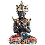 Design Toscano Thailändischer Buddha im Sukhothai-Stil, Skulptur, Kunstharz, Mehrfarbig, 11.5 x 18 x 26.5 cm