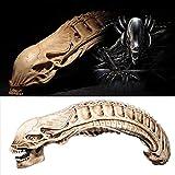 SKAISK Crâne en Forme d'Alien Modèle Décor Film Props Collection Artisanat Maison Jardin Décoration