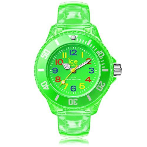 Ice-Watch - ICE happy Neon green - Montre verte pour garçon (mixte) avec bracelet en plastique - 001321 (Extra Small)