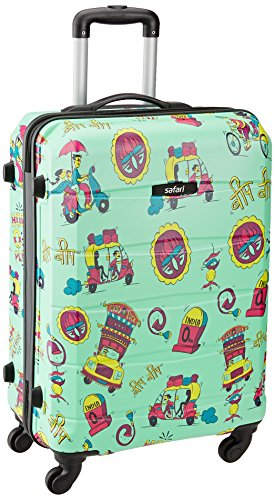 Safari Polycarbonate 66 cms Green Hard Sided Suitcase (REGLOSS INDIE 4W 65)
