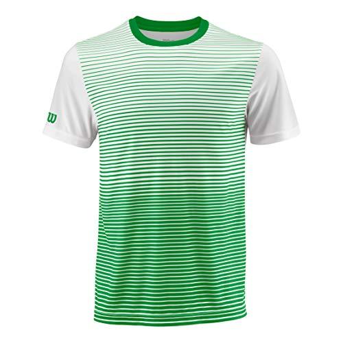 Wilson Herren Tennis-Kurzarmshirt,  Grün/Weiß, Größe: M