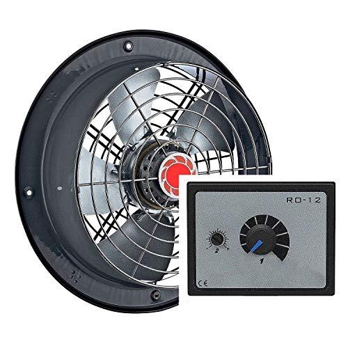 250mm ventilador con REGULADOR 5A soplador de aire ventilador para restaurante almaxcén...