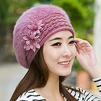 Wenxin0815 Damen Winter Warme Mütze Beret Verdickung