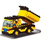 #7: Fun Growth Store New Arrival 93pcs/set DIY Building Blocks Toys Construction Vehicles Action Figure Toy Children Puzzle Educational Truck Toy