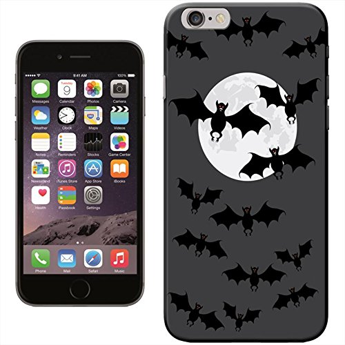 Halloween Fancy A Snuggle Coque arrière rigide pour Apple iPhone) Red Eyed Bats At Full Moon