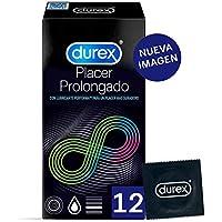 Durex Preservativos Placer Prolongado con Efecto Retardante - 12 condones