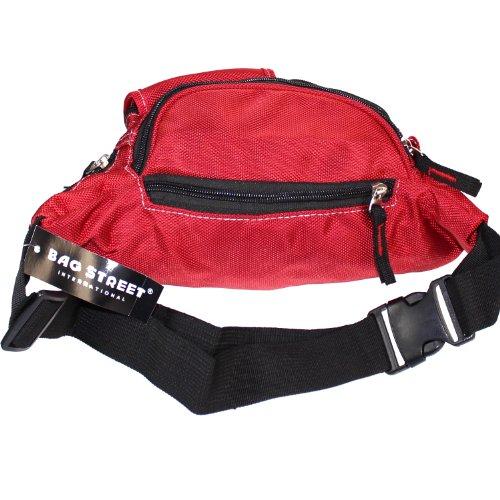 Bag Street Bauchtasche Hüfttasche Gürteltasche Blau Nylon rot