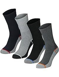 Lavazio® 6 | 12 | 18 | 24 Paar Herren Arbeitssocken Sportsocken Thermo Socken dick & herrlich in dunklen Farben