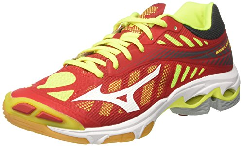 Mizuno Wave Lightning Z4, Zapatillas de Running para Hombre, (Marsred/White/safetyyellow 01), 45 EU