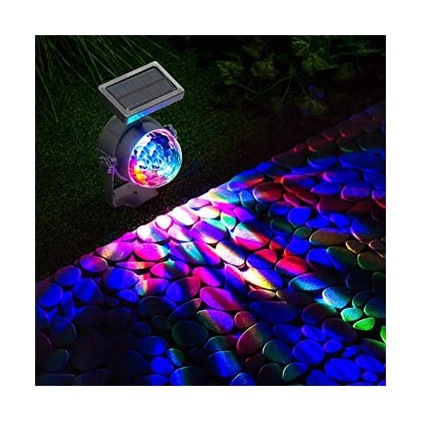 GloBrite Solar Powered Colour Changing Revolving LED Spotlight Carnival Garden Party Stake Light 1