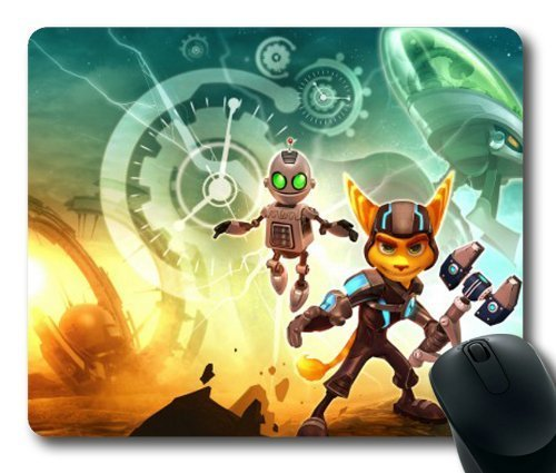 ratchet-and-clank-a-crack-in-time-game-mouse-pad-mouse-mat-rectangle-by-ieasycenter