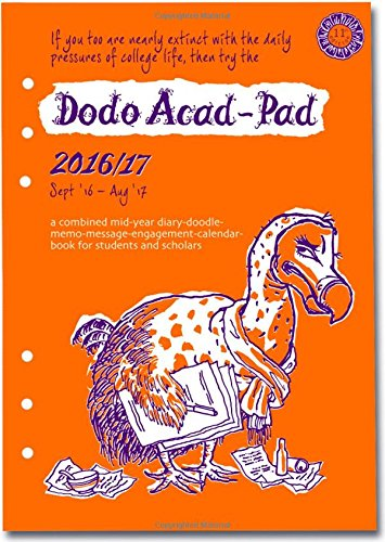 Dodo Acad-Pad 2016 - 2017 Filofax-Compatible A5 Organiser Diary Refill, Mid Year / Academic Year, Week to View: A ... for Students and Teachers (Dodo Pad)