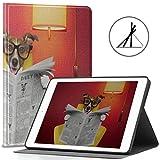 Funda para iPad de 9.7 Pulgadas Lectura de Perros Periódico o Revista Fit 2018/2017 iPad 5ta / 6ta generación Funda y Cubierta para iPad 9.7 También se Ajusta a iPad Air 2 / iPad Air Auto WA