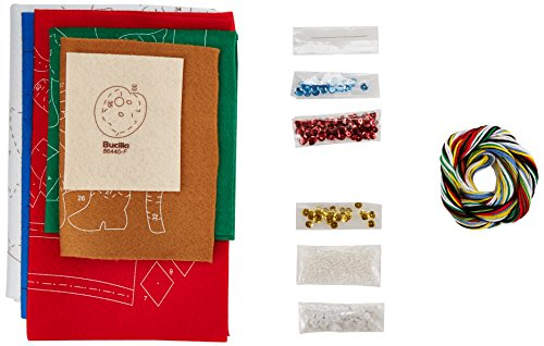 Bucilla 86440Filz Aufnäher Weihnachtsstrumpf Kit (40,6cm), Plektrum einen Baum, 40,6cm (Weihnachtsstrumpf Filz Kit)