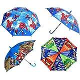 Funny Teddy Boy's Printed Cartoon Characters Umbrella (Multicolour)-Set of 1